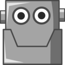 Cute Robot Head Same Eyes