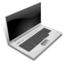 download A Gray Laptop clipart image with 225 hue color