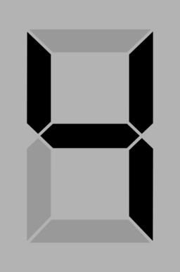 Seven Segment Display Gray 4
