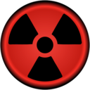 download Radiation Symbol Nuclear clipart image with 315 hue color
