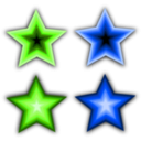 download Stars Simple clipart image with 225 hue color