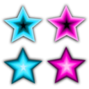 download Stars Simple clipart image with 315 hue color