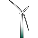 download Wind Turbine 2 clipart image with 45 hue color