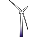 download Wind Turbine 2 clipart image with 135 hue color