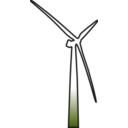 download Wind Turbine 2 clipart image with 315 hue color