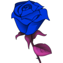 download Red Rose clipart image with 225 hue color