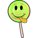 download Lollipop Smiley clipart image with 45 hue color