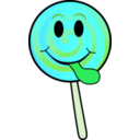 download Lollipop Smiley clipart image with 135 hue color