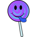 download Lollipop Smiley clipart image with 225 hue color