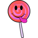 download Lollipop Smiley clipart image with 315 hue color