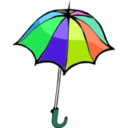 download Umbrella01 clipart image with 135 hue color