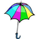 download Umbrella01 clipart image with 180 hue color