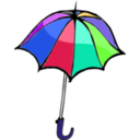 download Umbrella01 clipart image with 225 hue color