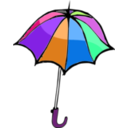 download Umbrella01 clipart image with 270 hue color