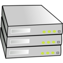download Stacked Servers clipart image with 45 hue color