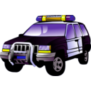 download Police Car clipart image with 45 hue color