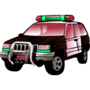 download Police Car clipart image with 135 hue color