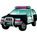 download Police Car clipart image with 315 hue color