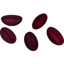 download Coffee Beans clipart image with 315 hue color