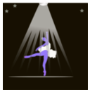 download Bailarina clipart image with 225 hue color