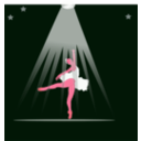 download Bailarina clipart image with 315 hue color