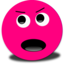 Mad Smiley Pink Emoticon