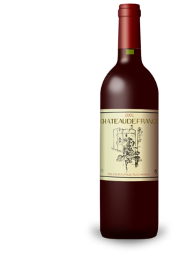 French Wine Bordeaux Bottle