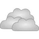 download Cloud clipart image with 135 hue color