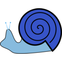 download Snail clipart image with 180 hue color