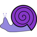 download Snail clipart image with 225 hue color