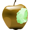 download Apple With Bite clipart image with 45 hue color