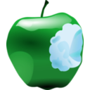 download Apple With Bite clipart image with 135 hue color