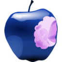 download Apple With Bite clipart image with 225 hue color