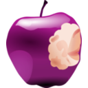 download Apple With Bite clipart image with 315 hue color