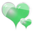 download Couple Of Hearts clipart image with 135 hue color