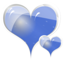 download Couple Of Hearts clipart image with 225 hue color