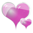 download Couple Of Hearts clipart image with 315 hue color