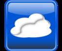 Cloud Computing Button Glossy Nube Computo Brilloso