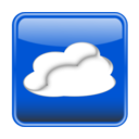 Cloud Computing Button Glossy Nube Computo Brilloso