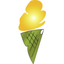 download Ice Cream Icon clipart image with 45 hue color