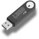 download Usb Flash Drive clipart image with 0 hue color