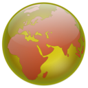 download Globe clipart image with 225 hue color