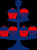 Jubilee Cake Stand Blue