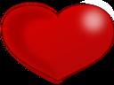 Red Glossy Valentine Heart