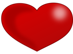 Red Glossy Valentine Heart Clipart | i2Clipart - Royalty Free Public ...