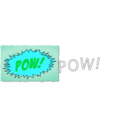 download Pow Comic Book Sound Effect clipart image with 135 hue color