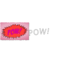 download Pow Comic Book Sound Effect clipart image with 315 hue color