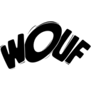 download Wouf In Black clipart image with 225 hue color