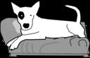 Bullterrier Head Bujung Bull Terrier Cartoon Dog Bullterrier