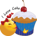 Cupcake Smiley Emoticon